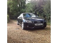 Audi A5 Convertible 2.0L TFSI S Line in Black, excellent condition,