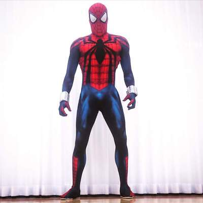 2018 New Spiderman Costume Cosplay Spider-Man Superhero Zentai Suit For Adult