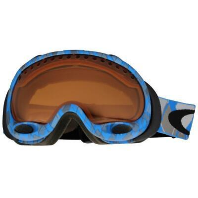 Oakley A Frame 02-601 Blue Argyle Persimmon Lens Mens  Snow Board Ski Goggles.