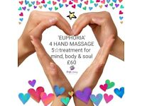 4 HAND MASSAGE: includes Swedish, Deep Tissue, Indian Head, Reflexology & Facial £60 💗Euphoria 💗