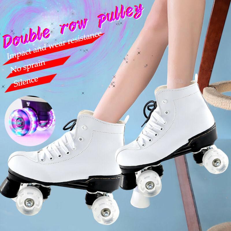 Women Men Skate Gear Soft Boot Roller Skate Retro High Top D