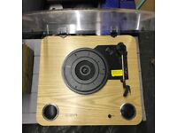 Record/Vinyl player wooden effect with multiple functions!