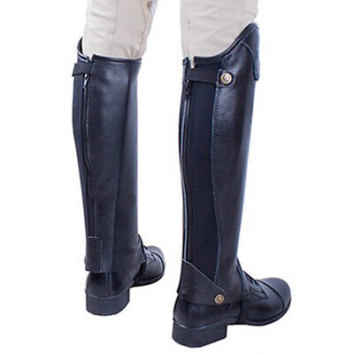 Leather Half Chaps Horse Riding Gaiters Equestrian Accessories Unisex Adults