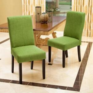 New, Set of 2 Parsons Chair Upholstery - Green (open box) *PickupOnly