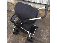 Pushchair car seat and cosi toes