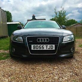 Audi A5 3.0TDI Quattro Full MOT Black 4x4 excellent conditon (NOT a3 a4 a6 tdi golf bmw mercedes)