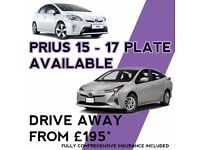 UBER Ready NEW Toyota Prius Hire, PCO Car with Insurance - PCO CAR HIRE, 2016/ 2017 Plate new cars