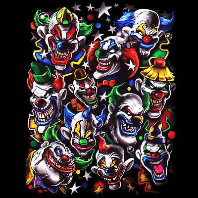 * Clown Halloween Zirkus Varietè Komiker Harlekin Fantasy T-Shirt  *4050