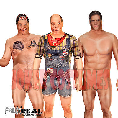 Morphsuit Amazing Faux Real 3D Print Naked Hillbilly Naked Man Billy Bob Costume