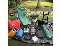 123goforit Camping trolley, chairs, bed, toilet, utility tent, sleeping bags etc. from £5