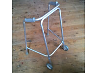 WHEELED ZIMMER FRAME - walking mobility disability aid
