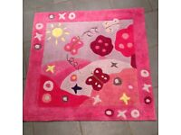 Girl's Pink Butterfly Bedroom Rug by Kiddy Rug - Summertime