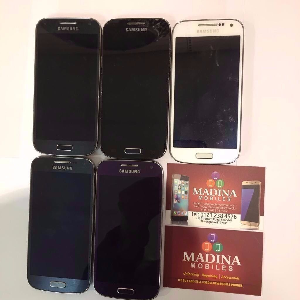 SAMSUNG GALAXY S4 MINI IMMACULATE CONDITION COMES WITH WARRANTY AND ALL ACCESSORIESin Sparkhill, West MidlandsGumtree - SAMSUNG GALAXY S4 MINI IMMACULATE CONDITION COMES WITH WARRANTY AND ALL ACCESSORIES BUY FROM A MOBILE PHONE SHOP FOR PIECE OF MIND. ALL PURCHASES COME WITH SHOP RECEIPT Madina Mobiles 533 Stratford road B11 4LP 01212384576 07438027947 MON TO SAT 10...