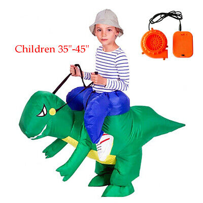 Inflatable Ride Dinosaur Rider Costume Outfit for Halloween Party Role 3-6 Years