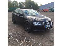 Audi A3 sports back 1.6 black 5 door
