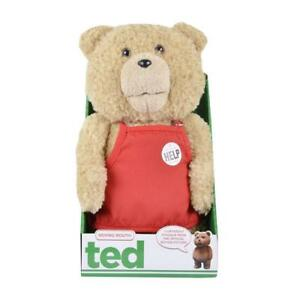"Ted Bear in Apron 16"" Plush with Sound and Moving Mouth - R-rated, 5 Phrases (Explicit Language)"