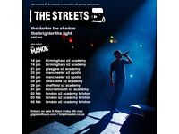 2x The Streets standing tickets, O2 Apollo Manchester, Saturday 26th January 2019