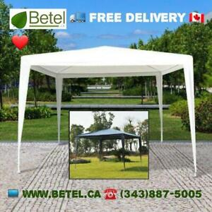 Brand New | 10x10 ft Budget Party Canopy Gazebo Tent White or Blue | $69 Includes FREE Delivery