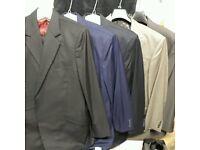 5 gents suits & a suit jacket 40R 36W 31L excellent £100 for the lot
