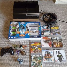 Playstation 3 bundle games, headset ,console