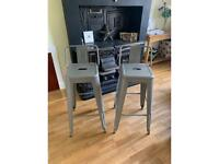 Rustic Vintage Bar Stools Angus Retro Barstools Industrial Dining Chairs Kitchen
