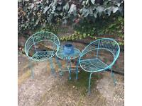 Stylish outdoor table and chairs