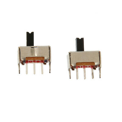 10pcs On-off 2 Position 1p2t Spdt Mini Micro Vertical Slide Switch 3 Pin Pcb