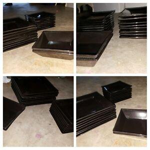 black plates ,black dinner set Blakehurst Kogarah Area Preview