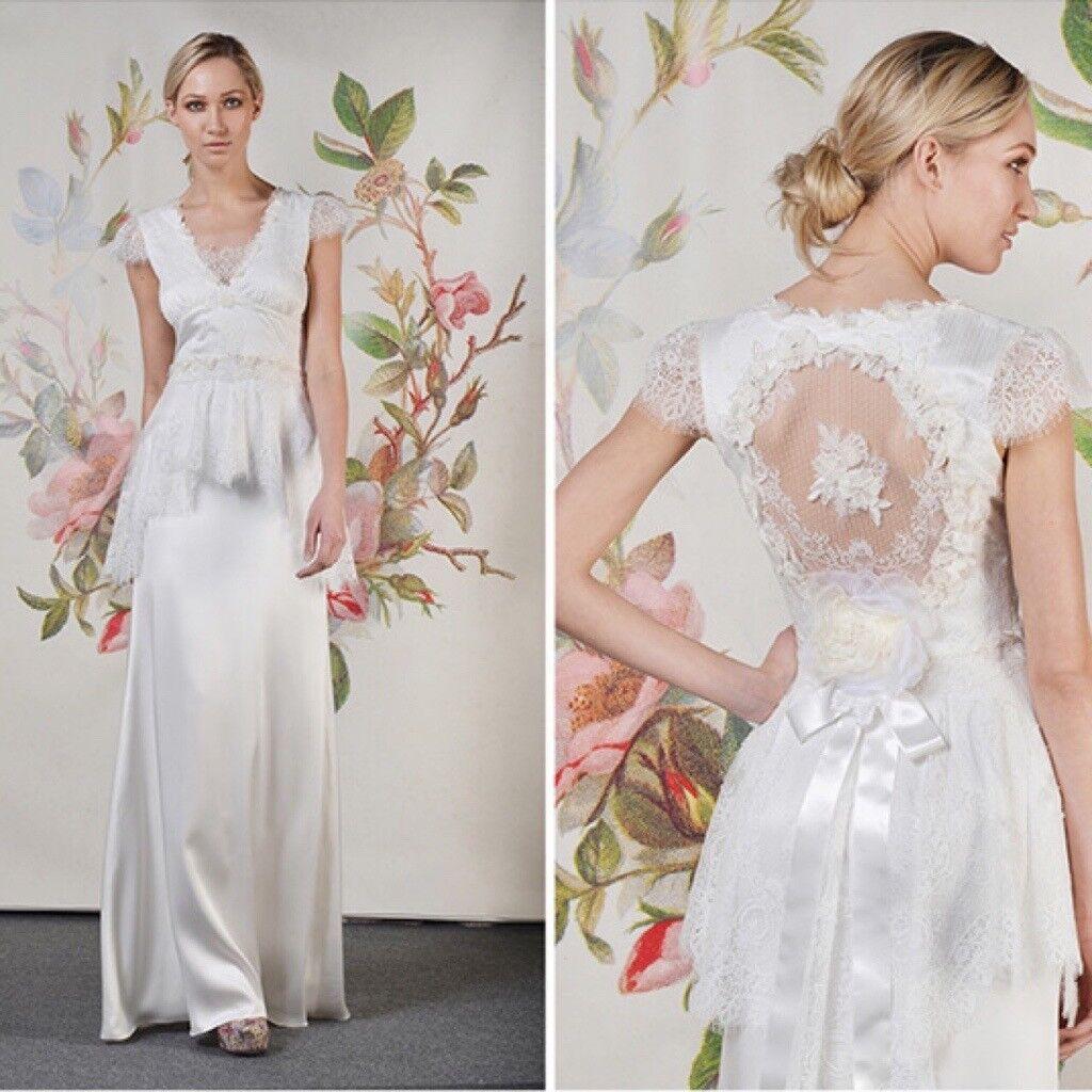 Designer Claire Pettibone Vintage Style Wedding Dress No