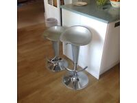 Gloss Coco bar stool silver x2 *REDUCED*