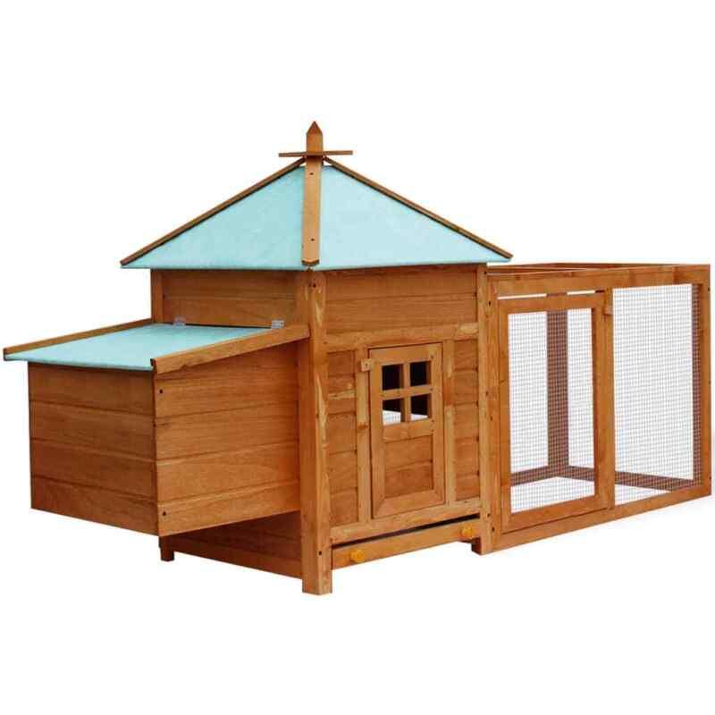 vidaXL Chicken Coop Wooden Backyard Nest Box Hen Pet House Rabbit Wood Hutch