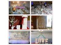 Venue styling and event decoration