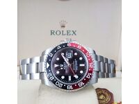 Silver rolex GMT Master II Cola Comes Rolex Bagged and Boxed with Paperwork