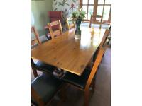 Next extendable wooden dining table & 8 chairs