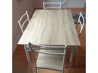 5 Piece Kitchen Dining Table & Chairs Set - White for sale