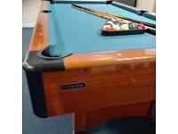 Harvard Pool table and equipment