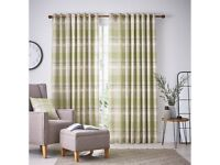 NEW Helena Springfield Nora Lined Willow Curtains 66x90/168X229CM -RRP £125