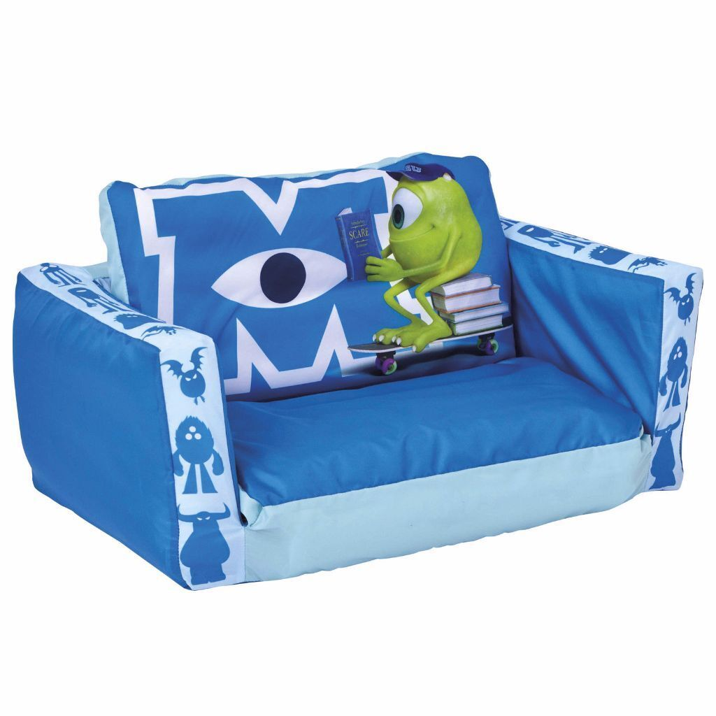 Childrens Monsters Inc University Kids Tween Inflatable Flip Out Sofa Chair