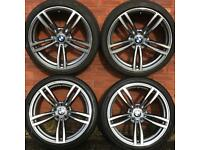 bmw 19 inch split width alloy wheels & tyres 3 4 5 Series F10 F11 F30 F31 F32 F34 F35 E90 alloys M5