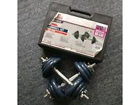 Lonsdale Dumbbell Set - 100% Cast Iron - 18Kg - Mint Condition
