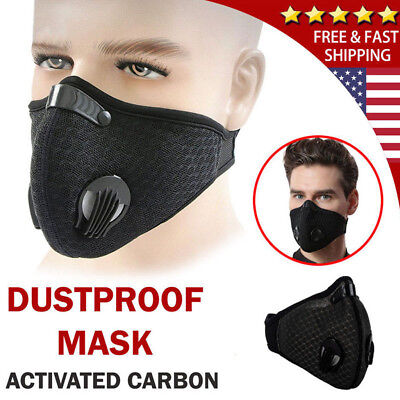 Anti Smoke Air Filter Dust Face Mask Outdoor Dustproof Filter Multi Layer Black