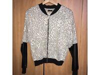 Jersey bomber jumper/jacket, lightweight. Size 12