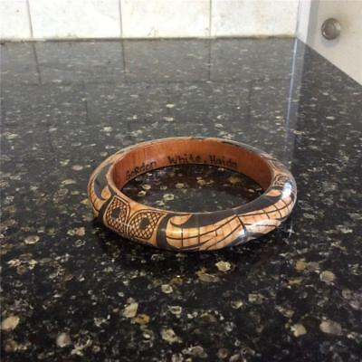 Vintage Haida,Thunderbird Bangle, First Nations, Carved Wood,Signed Gordon White for sale  Canada