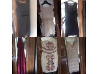 Dresses x 6 size 10 & 12