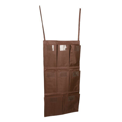 Cleaning Trolley Janitorial Housekeeping Cart Hanging Bag Organizer Brown