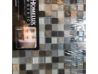 Stone and glass mosaic 300 x 300mm tile