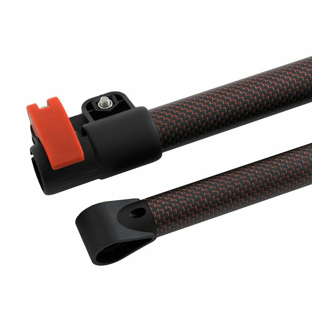 Detect-Ed Red Belly LS Carbon Fiber Upper & Lower Shaft for Minelab Equinox