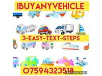 I buy any vehicle. -cars -vans -caravans -catering trailers. Wanted. cash waiting