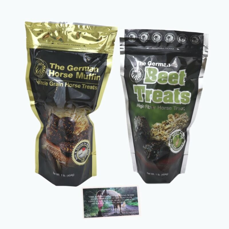 Horse Snacks - Horse Muffins 2 Pack of Horses Treats, Low Starch Horse Treats