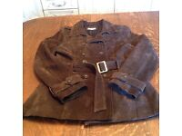 Brown suede leather jacket size 10